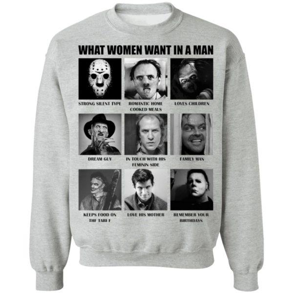 redirect 488 600x600 - What women want in the man killer chart Halloween shirt