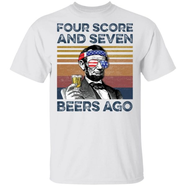redirect 60 600x600 - Abraham Lincoln four score and seven beers ago shirt