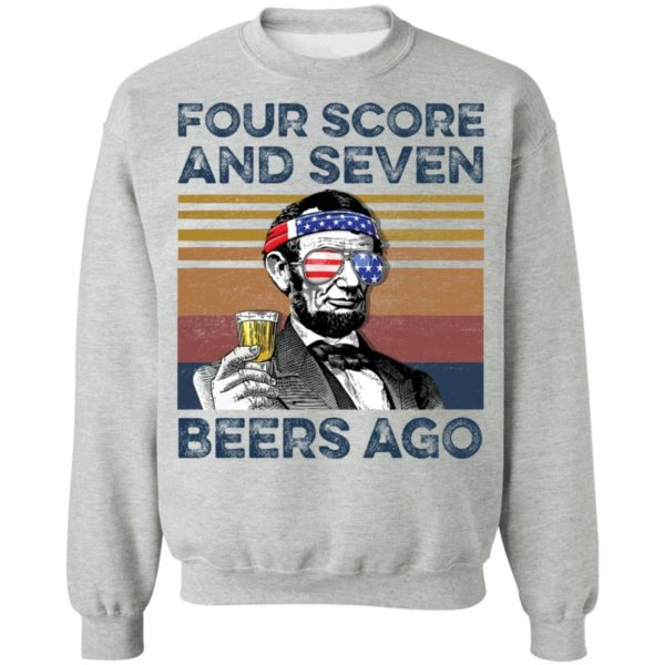 redirect 68 600x600 - Abraham Lincoln four score and seven beers ago shirt