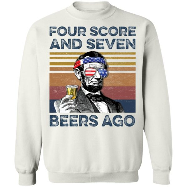 redirect 69 600x600 - Abraham Lincoln four score and seven beers ago shirt