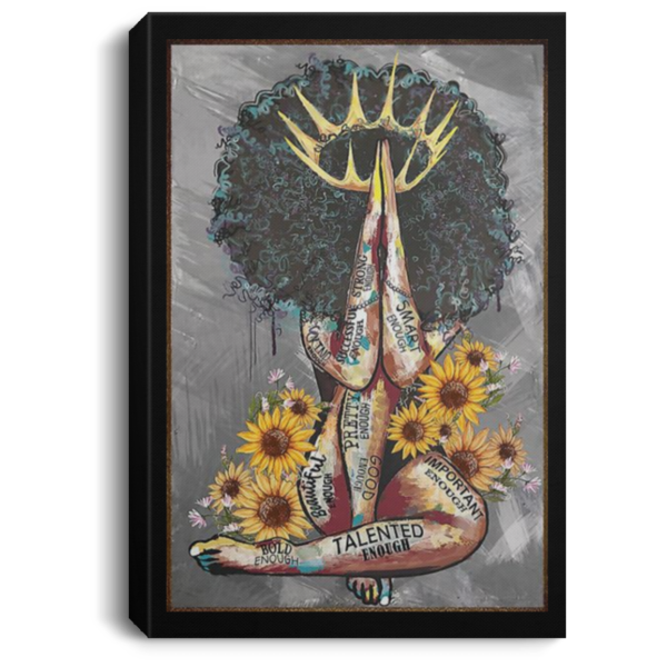 redirect 102 600x600 - Black Queen with sunflowers poster