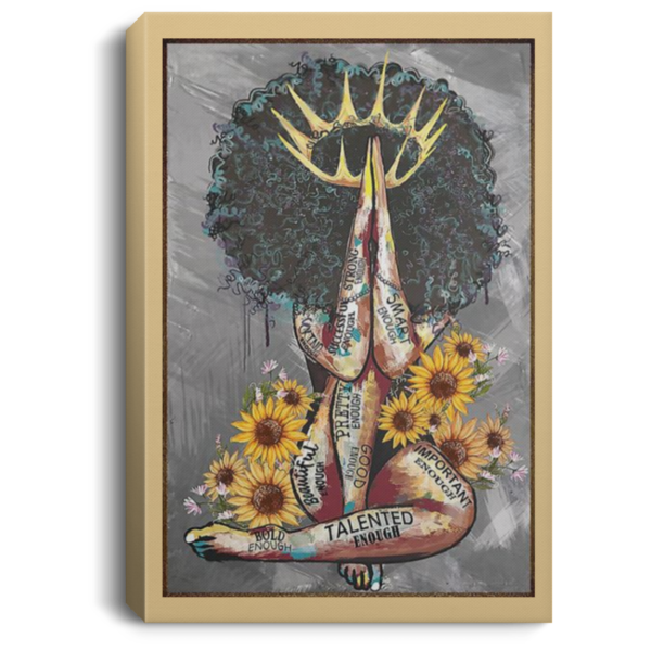 redirect 103 600x600 - Black Queen with sunflowers poster