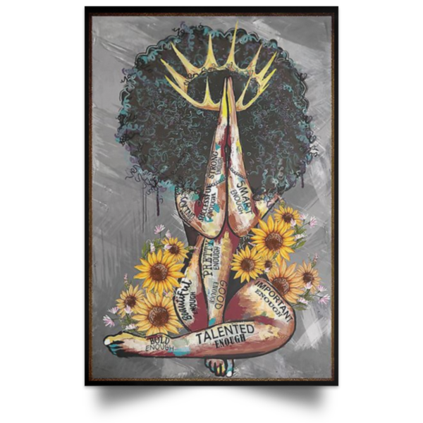 redirect 104 600x600 - Black Queen with sunflowers poster