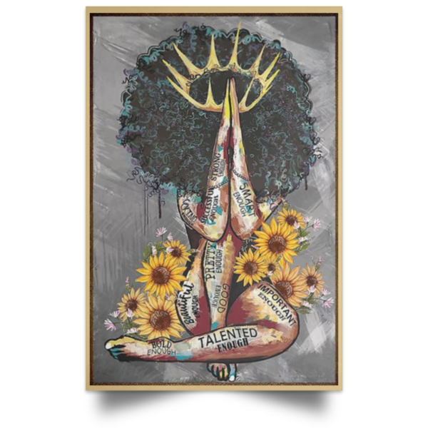 redirect 105 600x600 - Black Queen with sunflowers poster