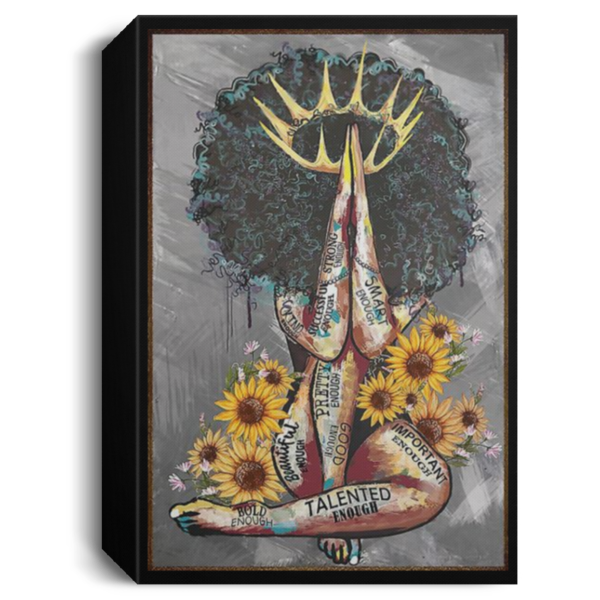 redirect 106 600x600 - Black Queen with sunflowers poster