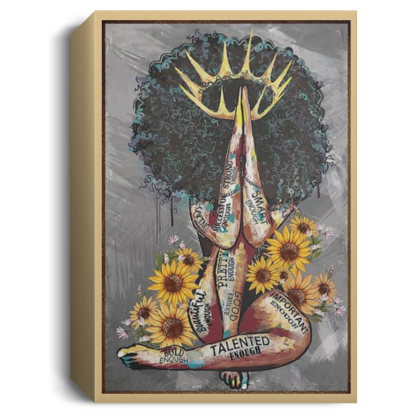 redirect 107 600x600 - Black Queen with sunflowers poster
