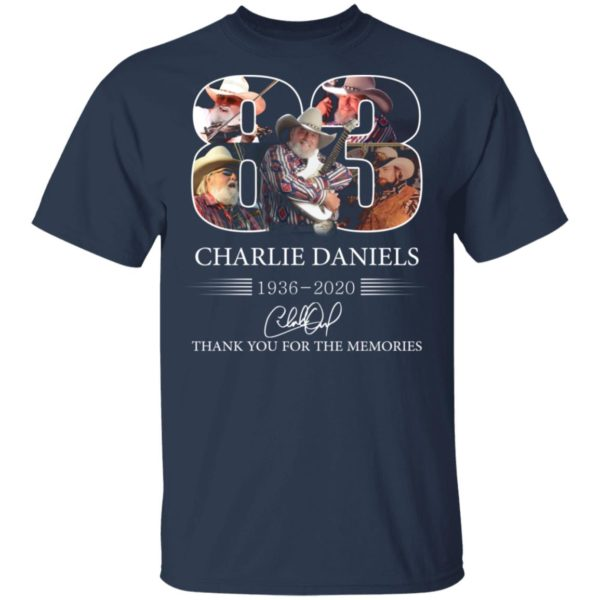 redirect 1107 600x600 - 83 Charlie Daniels 1936-2020 thank you for the memories shirt