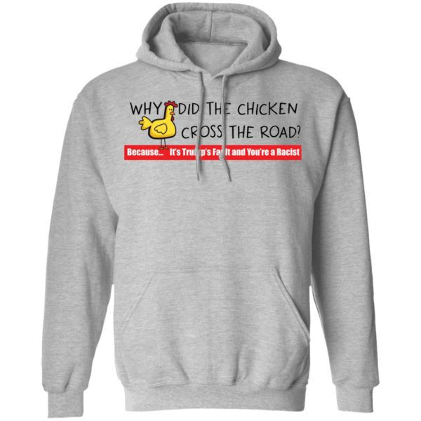 redirect 116 600x600 - Why did the chicken cross the road shirt