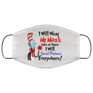redirect 165 300x300 - Dr Seuss I will wear my mask here or there face mask
