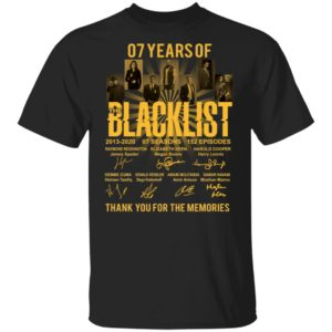 redirect 1678 300x300 - 07 years of Blacklist thank you for the memories shirt