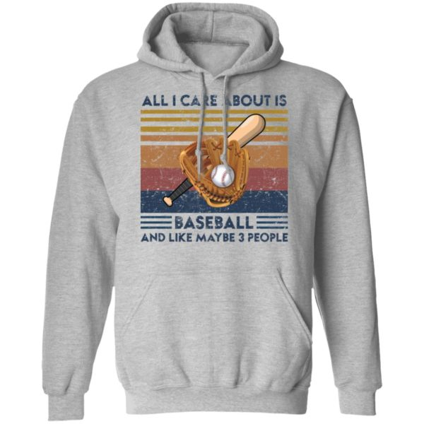 redirect 1864 600x600 - All I care about is baseball and like maybe 3 people vintage shirt