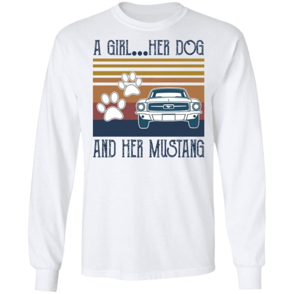 redirect 235 600x600 - A girl her dog and her Mustang vintage shirt