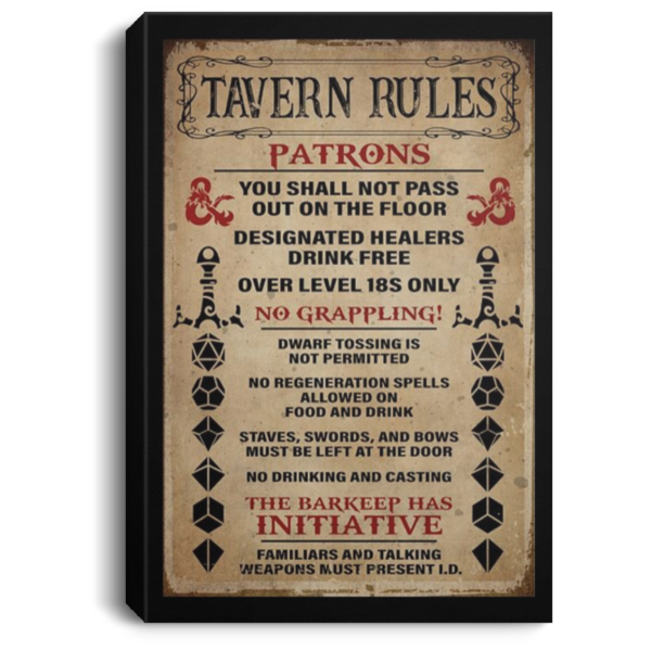 redirect 247 600x600 - Tavern rules patrons poster