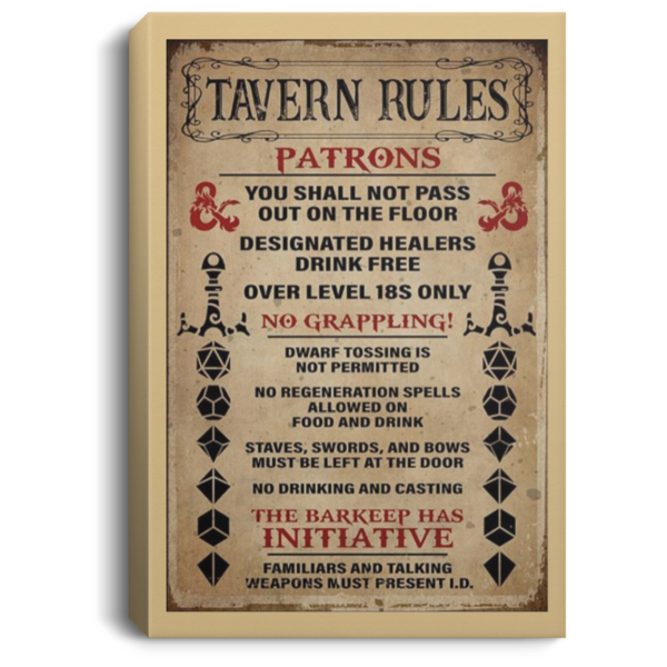 redirect 248 600x600 - Tavern rules patrons poster