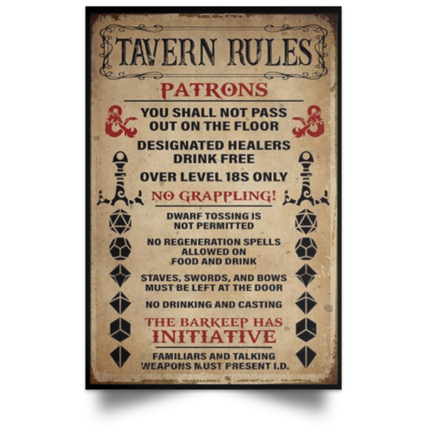 redirect 249 600x600 - Tavern rules patrons poster