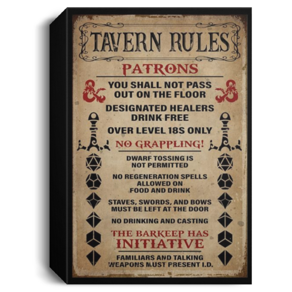 redirect 251 600x600 - Tavern rules patrons poster
