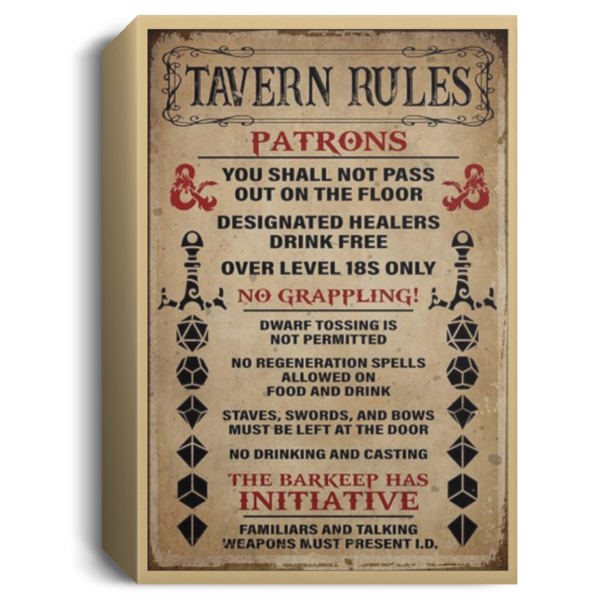 redirect 252 600x600 - Tavern rules patrons poster