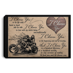 redirect 286 300x300 - I choose you to do life with hand in hand side by side poster