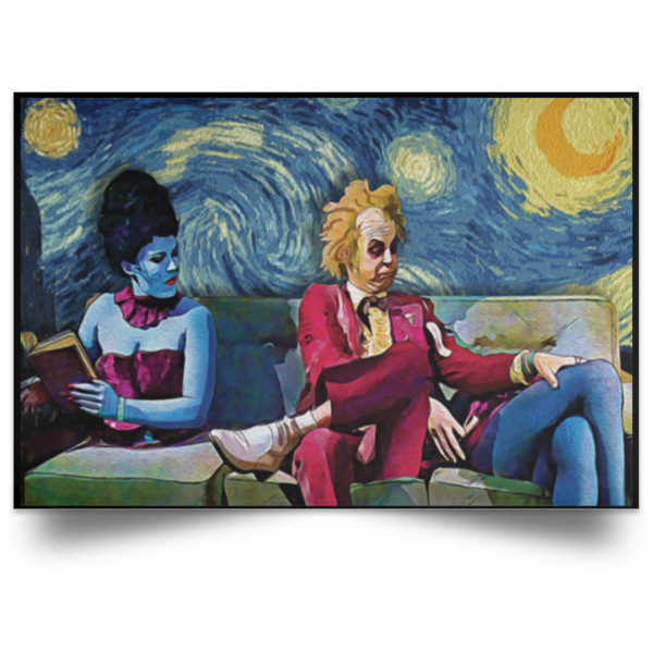 redirect 30 600x600 - Beetlejuice The Starry Night poster, canvas