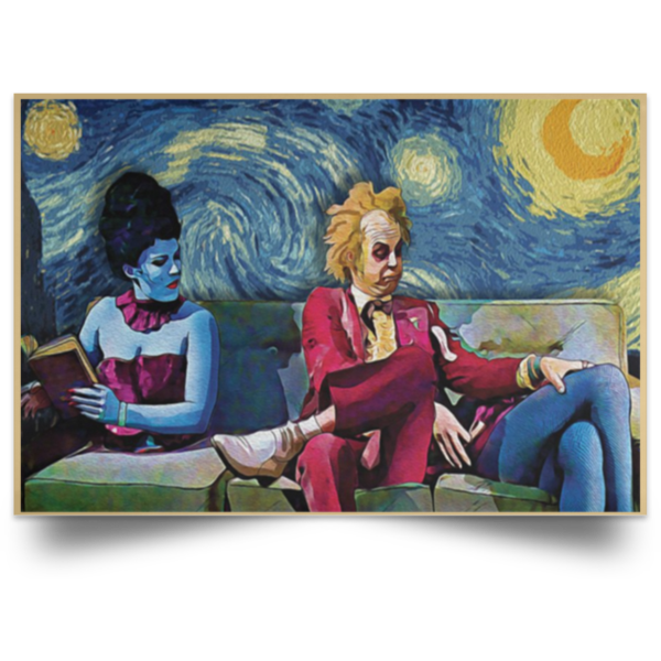 redirect 31 600x600 - Beetlejuice The Starry Night poster, canvas