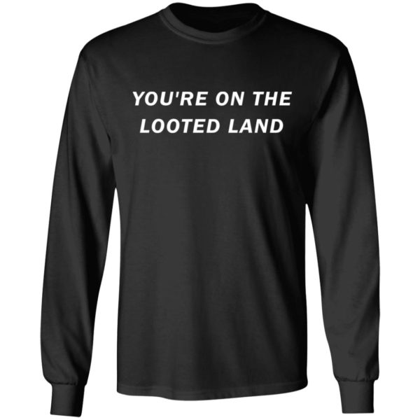 redirect 3209 600x600 - You're on the looted land shirt