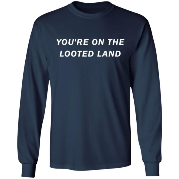 redirect 3210 600x600 - You're on the looted land shirt