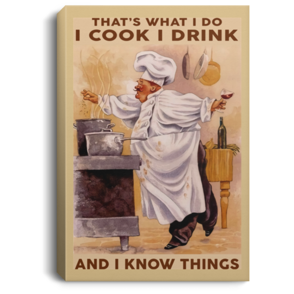 redirect 330 600x600 - Chef that's what I do I cook I drink and I know things poster