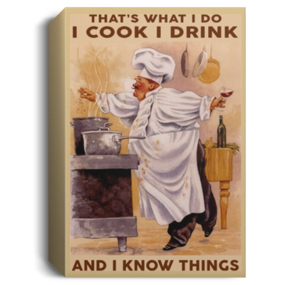 redirect 334 400x400 - Chef that's what I do I cook I drink and I know things poster