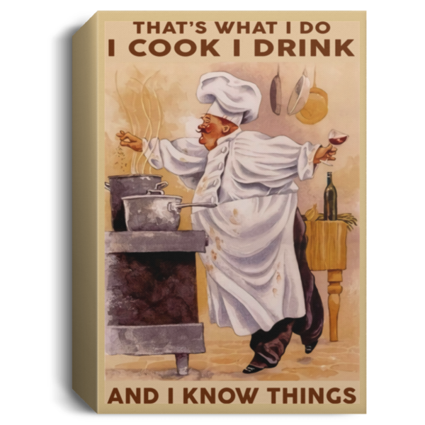 redirect 334 600x600 - Chef that's what I do I cook I drink and I know things poster
