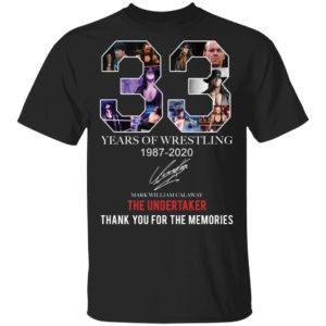 redirect 396 300x300 - 33 years of wrestling 1987-2020 The Undertaker thank you for the memories shirt