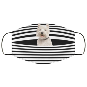redirect 421 300x300 - West Highland White Terrier Stripes face mask