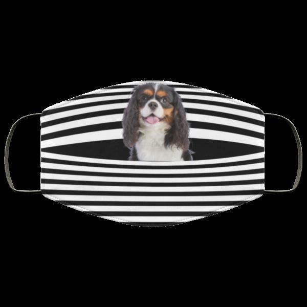 redirect 505 600x600 - Cavalier King Charles Spaniel Stripes face mask