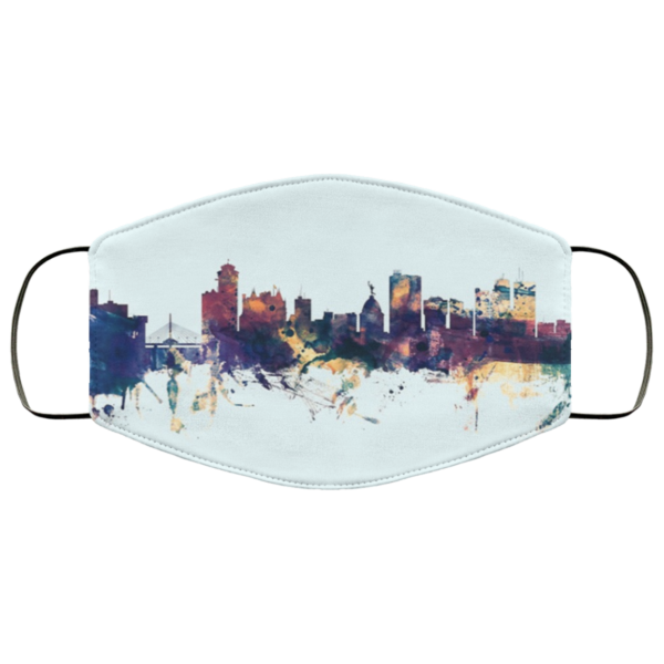 redirect 652 600x600 - Winnipeg Canada Skyline face mask