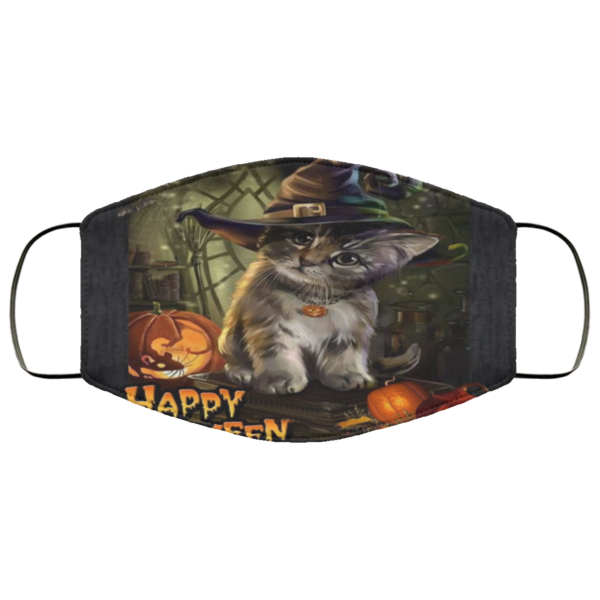 redirect 768 600x600 - Cat Halloween face mask