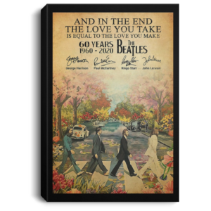 redirect 78 300x300 - The Beatles 60 years 1960-2020 poster, canvas
