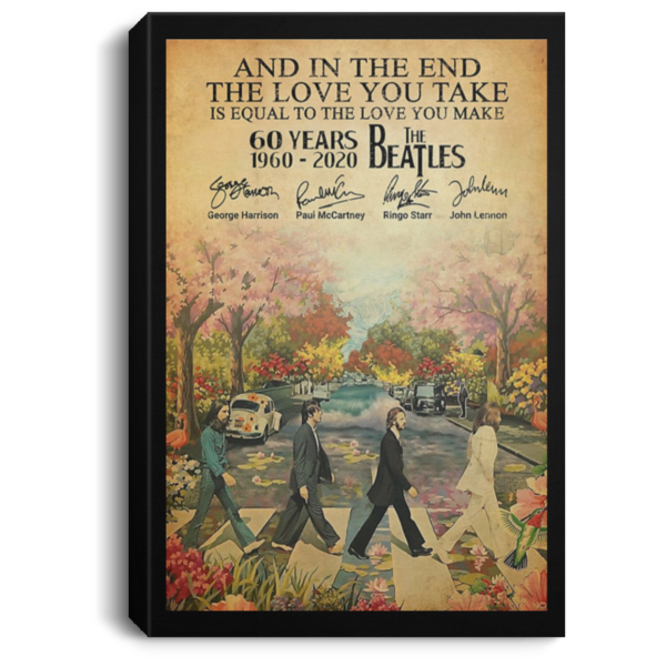 redirect 78 600x600 - The Beatles 60 years 1960-2020 poster, canvas