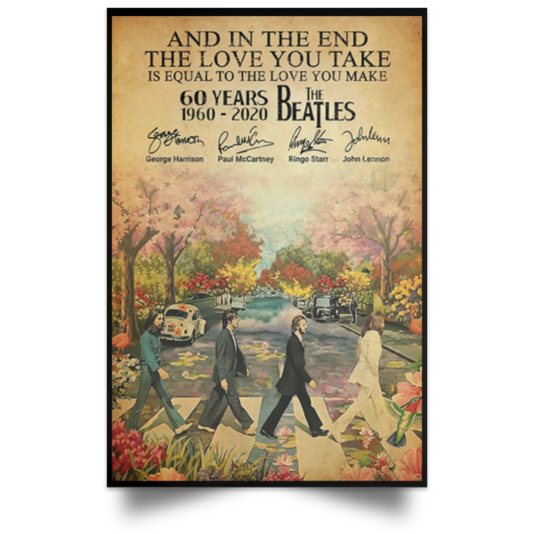 redirect 80 600x600 - The Beatles 60 years 1960-2020 poster, canvas