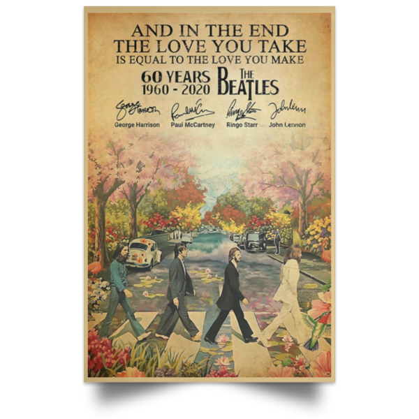 redirect 81 600x600 - The Beatles 60 years 1960-2020 poster, canvas