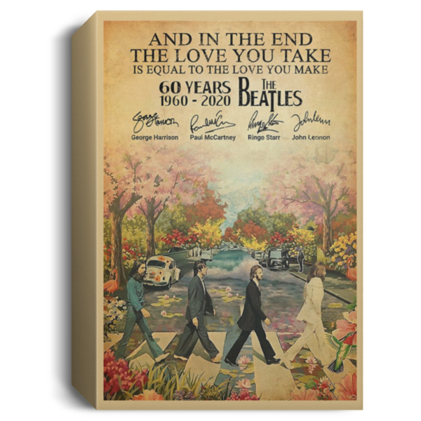 redirect 83 600x600 - The Beatles 60 years 1960-2020 poster, canvas