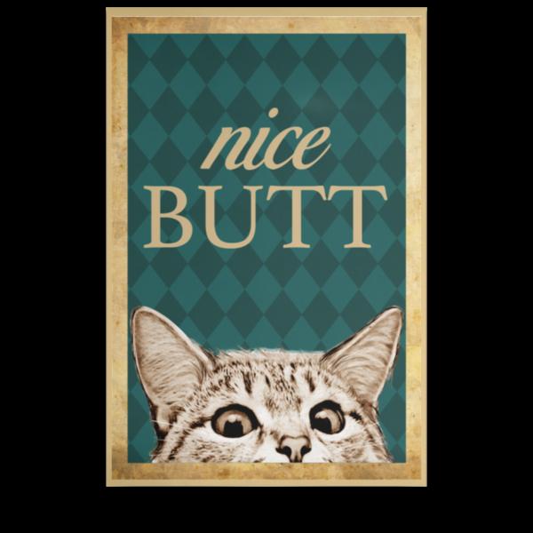redirect 210 600x600 - Cat nice butt poster