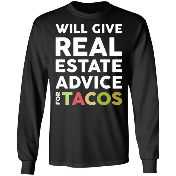 redirect 2111 600x600 - Will give real estate advice for tacos shirt