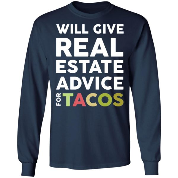 redirect 2112 600x600 - Will give real estate advice for tacos shirt