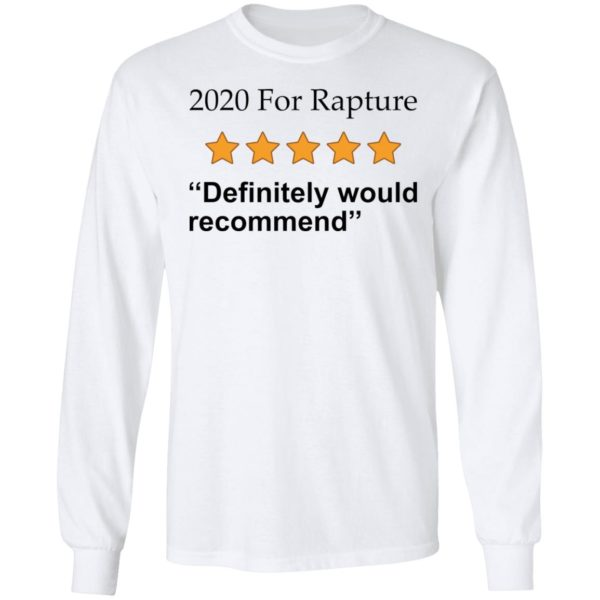 redirect 2672 600x600 - 2020 for rapture definitely would recommend shirt