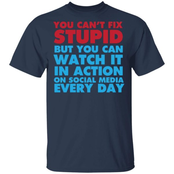 redirect 4049 600x600 - You can't fix stupid but you can watch it in action on social media every day shirt