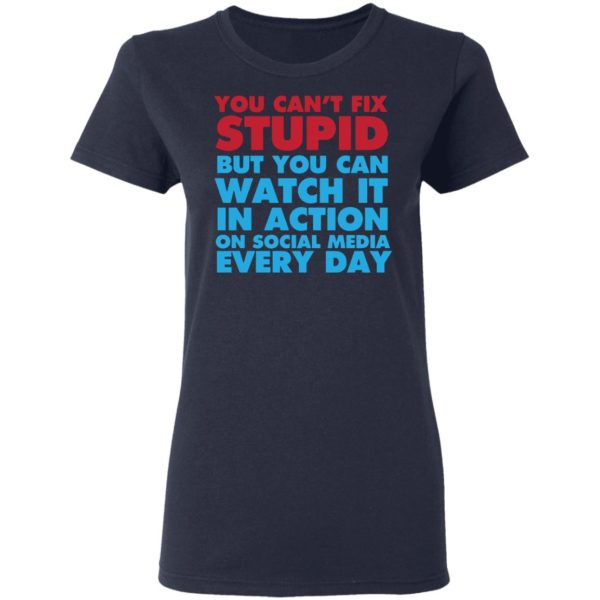 redirect 4051 600x600 - You can't fix stupid but you can watch it in action on social media every day shirt