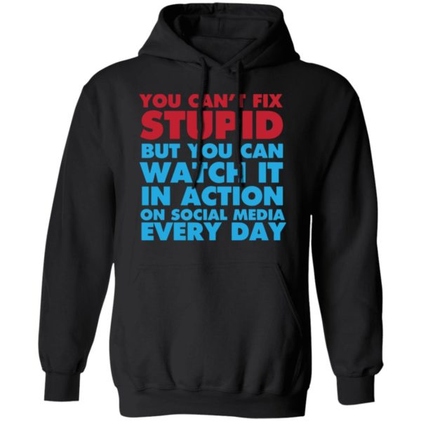 redirect 4054 600x600 - You can't fix stupid but you can watch it in action on social media every day shirt