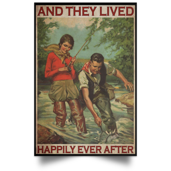 redirect 415 600x600 - Fishing and they lived happily ever after poster