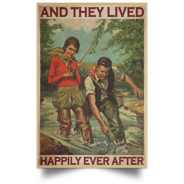 redirect 416 600x600 - Fishing and they lived happily ever after poster