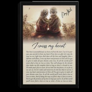 redirect 458 300x300 - I Cross My Heart Portrait Poster