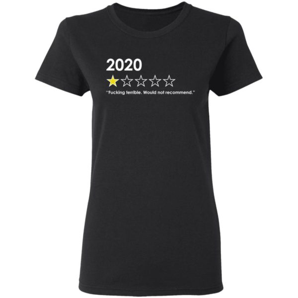 redirect 4762 600x600 - 2020 fucking terrible would not recommend shirt